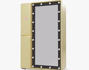 3D model Make-up Mirror Refrigerator