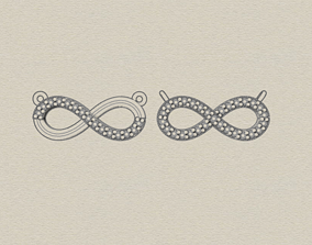 infinity necklace 3D printable model