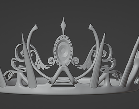 Black Pink Crown 3D Print Ready Model