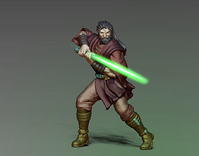 Jedi knight 3D print model - padawan 35 mm 1