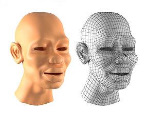 man African Head 3d Model VR / AR ready