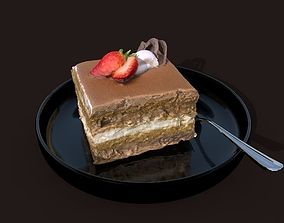 cake and small plate 3D