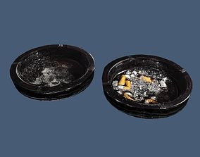 game-ready Ashtray 3d LowPoly