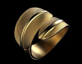 Feather ring 3D printable model