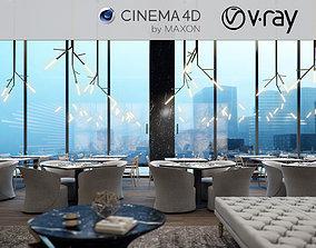 3D VRay - C4D scene files - Restaurant Interior