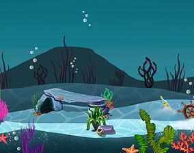 3D Under water 2D asset