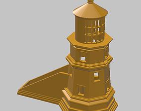 Lighthouse Business Card Holder 3D print model