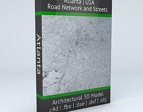 3D Atlanta Road Network and Streets