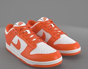 3D model Nike Dunk Low orange blaze PBR