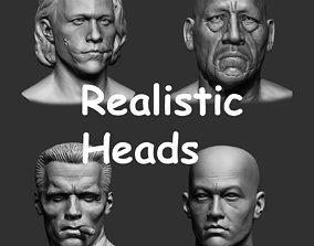 Realistic Heads Collection 3D model