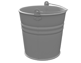 3D Bucket hi-poly model
