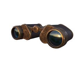 Binoculars Low-poly 3D model realtime