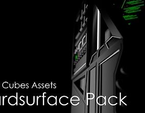 Sci-Fi Hardsurface Cubes Assets Pack 3D model