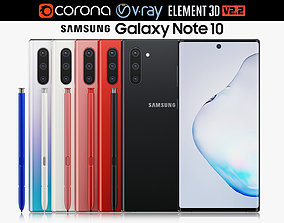 Samsung Galaxy Note 10 All Colors 3D