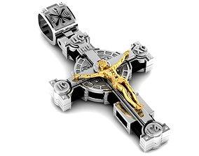 Fashionable orthodox cross 3D printable model