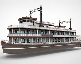 3D Paddle river ship