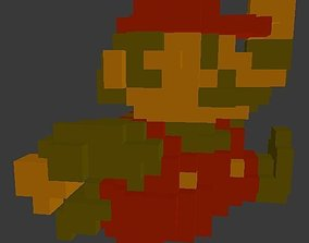 3D model Mario Bros Sprite amiibo - Original Colors
