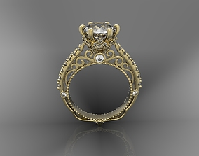3D print model Diamond ring jewelry elegant