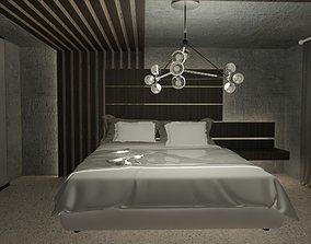 bedroom design -black 3D