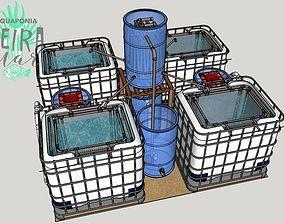 Sistema de Criacao Consorciada de Camaroes e Tilapias 3D