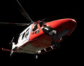 Helicopter AW169 3D asset