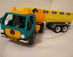 Semi dump truck toy - fully 3D printable - assembly 1