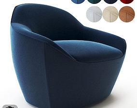 Bernhardt Design-Becca armchair minimalist 3D