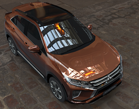 3D model mitsubishi eclipse cross brown car
