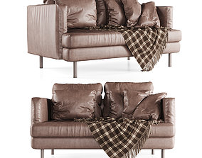 3D Double leather sofa