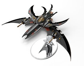 Jetfighter Dark Eldar space Drow 40k like 3D print model