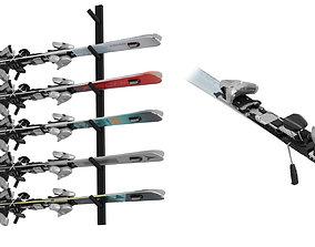 Skis Kit BLENDER 3D Model Cycles