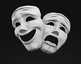 Sock and Buskin Theatre Masks 3D asset