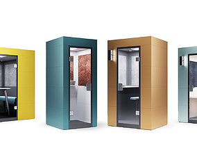 3D model Steelcase - Office Acoustic Pods