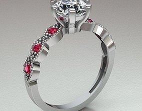 solitary ring women 3D print model engagement