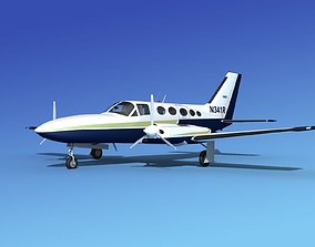 Cessna 414A Chancellor V03 3D model