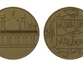 3D printable model Old Islamic Coin