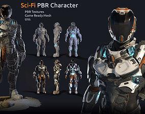 Lunar Suit - PBR Sci-Fi Character 3D asset