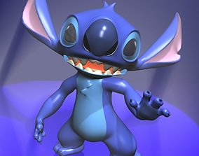 3D model VR / AR ready Stitch Rigged Character