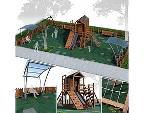 Children playground Forest house 3D model