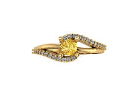 gold Dress Ring or Engagement Ring 3D print model