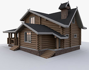 3D Wood Timber House