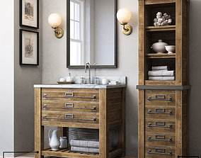 3D model MERCANTILE SINGLE WASHSTAND and MERCANTILE 2