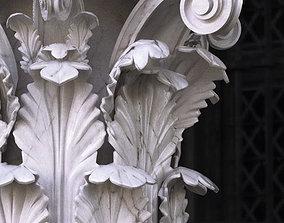 Classic column Corinthian high poly 3D model