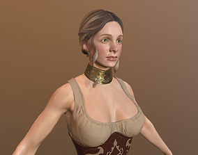 Girl Low Poly Model 3D asset