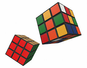 Rubiks Cube Magic Cube 3D asset