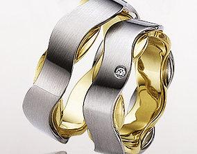 Wedding ring 017 3D printable model