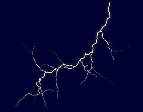Realistic 3D Lightning CA-08 low-poly