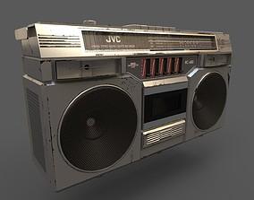 3D asset Retro Stereo - JVC RC-680