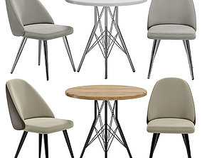 3D Aldo Chair and Francis Table