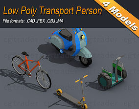Low Poly Transport Person 3D model